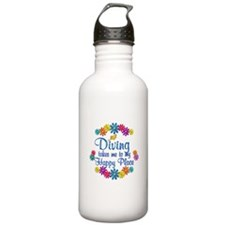 Diving Happy Place Water Bottle