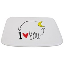 I love you to the moon and back Bathmat