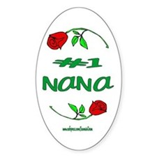 #1 Nana Oval Decal
