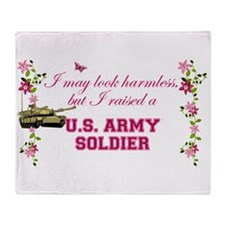 I Raised A Soldier Throw Blanket