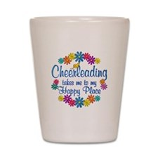 Cheerleading Happy Place Shot Glass