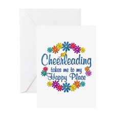 Cheerleading Happy Place Greeting Card