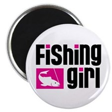 "Fishing Girl 2.25"" Magnet (100 pack)"
