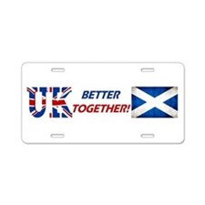 Better Together! Aluminum License Plate