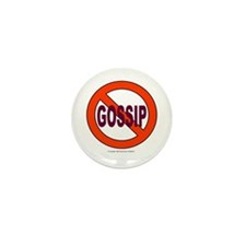 No Gossip Mini Button (100 pack)