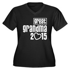 Great Grandm Women's Plus Size V-Neck Dark T-Shirt