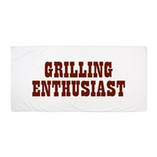 Grilling Enthusiast Beach Towel