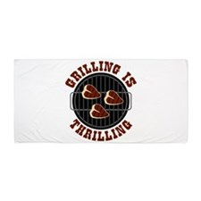 Grilling Is Thrilling Beach Towel