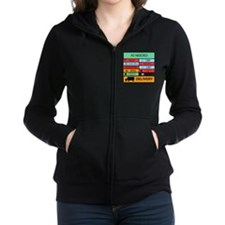 Auxilliary Label Collage Women's Zip Hoodie