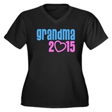 Grandma 2015 Women's Plus Size V-Neck Dark T-Shirt