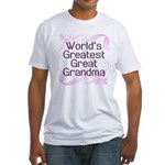 World's Greatest Great Grandma Fitted T-Shirt