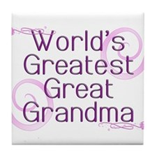 World's Greatest Great Grandma Tile Coaster
