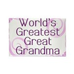 World's Greatest Great Grandma Rectangle Magnet