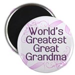 World's Greatest Great Grandma Magnet