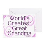 World's Greatest Great Grandma Greeting Cards (Pk