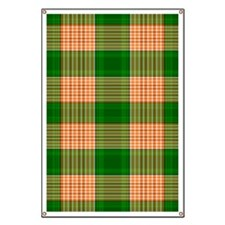Track and Field Plaid Banner