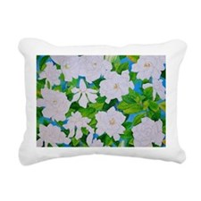 Gardenias Rectangular Canvas Pillow