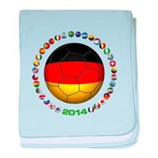 Germany soccer baby blanket