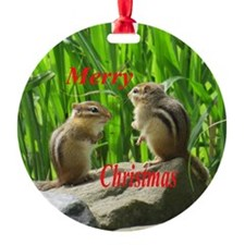 Two Chipmunks Ornament