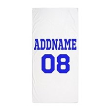 Blue Jersey Style Custom Beach Towel