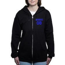 Blue Jersey Style Custom Women's Zip Hoodie
