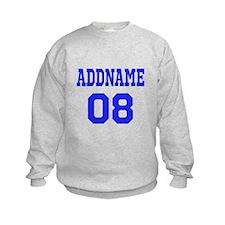 Blue Jersey Style Custom Sweatshirt