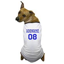 Blue Jersey Style Custom Dog T-Shirt