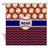 Baseball shower curtain Shower Curtains