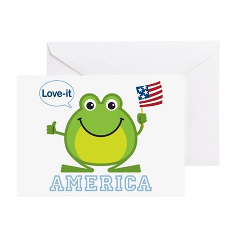 America, Love-it: Greeting Cards (Pk of 10)