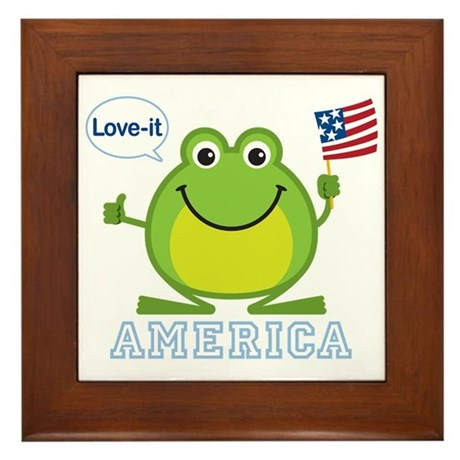 America, Love-it: Framed Tile