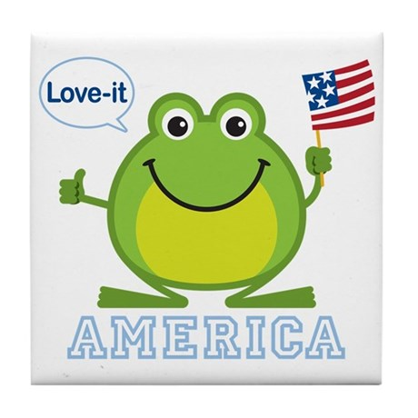 America, Love-it: Tile Coaster