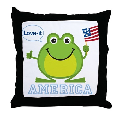 America, Love-it: Throw Pillow
