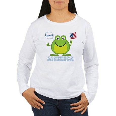 America, Love-it: Women's Long Sleeve T-Shirt