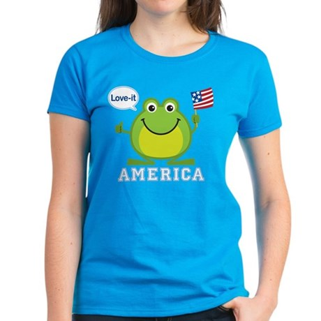 America, Love-it: Women's Dark T-Shirt