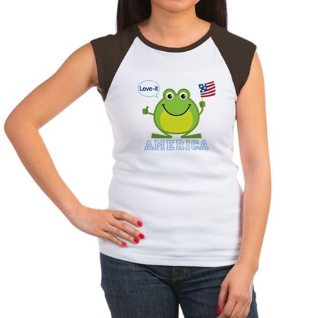 America, Love-it: Women's Cap Sleeve T-Shirt