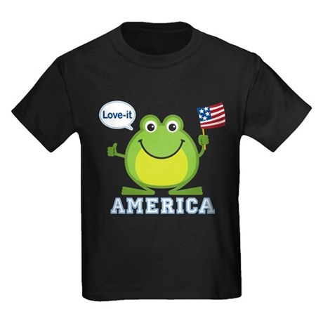 America, Love-it: Kids Dark T-Shirt