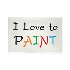 love paint Rectangle Magnet