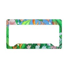 Cute Botanical License Plate Holder