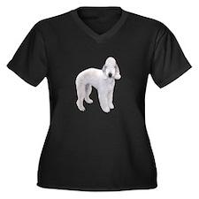Bedlington T Women's Plus Size V-Neck Dark T-Shirt