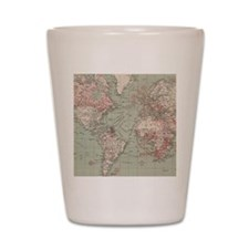 Vintage Map of The World (1918) Shot Glass