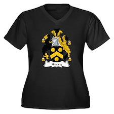 Avery Women's Plus Size V-Neck Dark T-Shirt