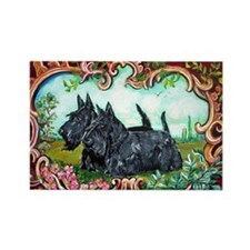 Scottish Terrier Pair Magnets
