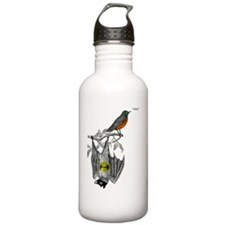A Bat and a Robin Water Bottle