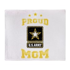 US Army proud Mom Throw Blanket