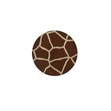Giraffe Print Mini Button