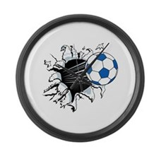 Breakthrough Soccer Ball Large Wall Clock