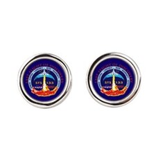 Last Flight Of Discovery Round Cufflinks
