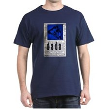 Dada Art Print Vintage T-Shirt (dark)