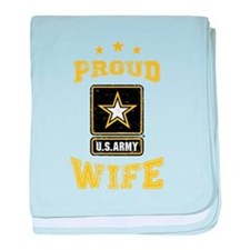 US Army proud Wife baby blanket