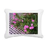 Roses and Trellis Rectangular Canvas Pillow